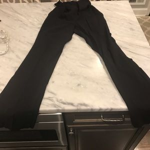 Black, full panel maternity pants